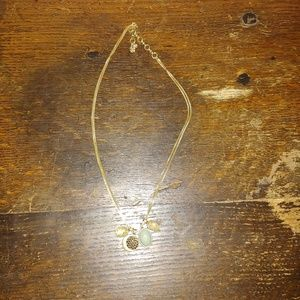 Women's Pale Blue and Yellow Lucky Brand Necklace